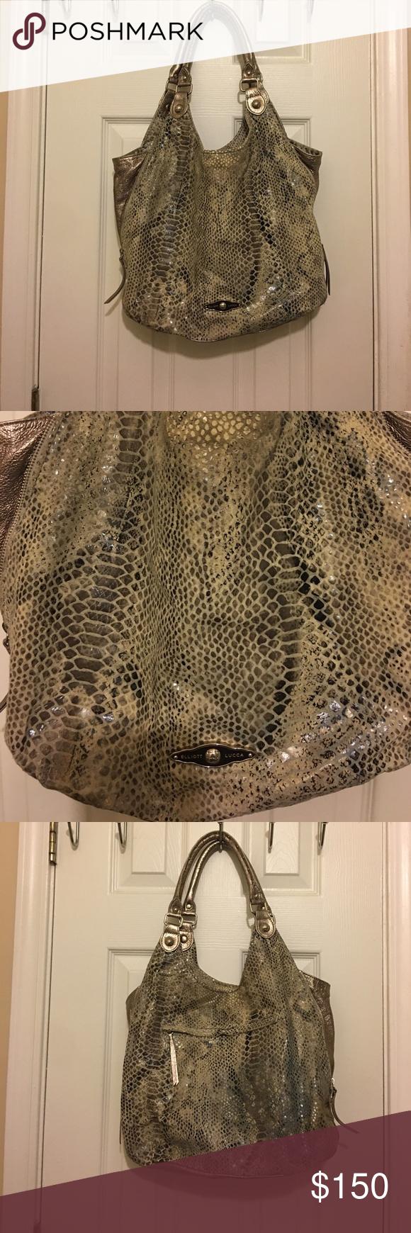 Large Elliott Luca handbag Gorgeous, Large Elliott Luca snakeskin leather handbag. Elliott Lucca Bags Hobos