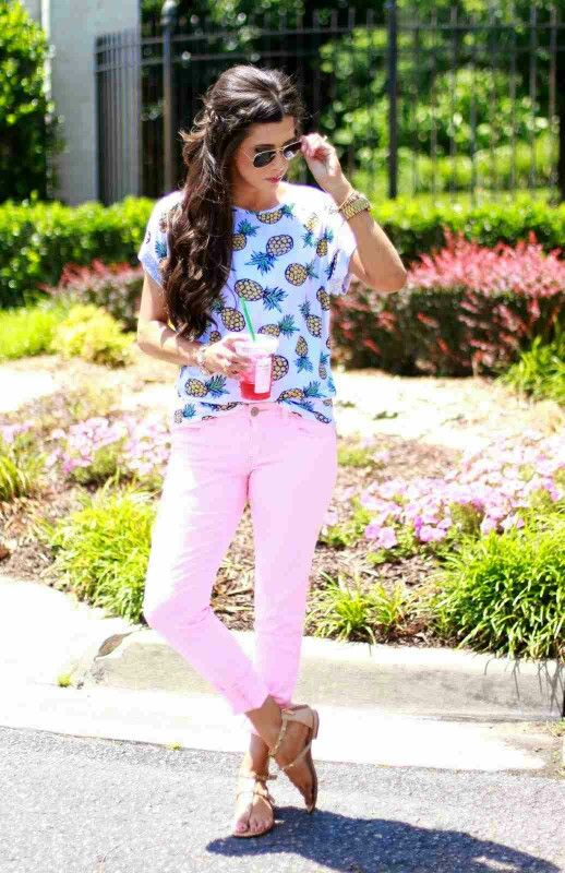 Pineapple Cuteness...From http://www.cyndispivey.com/2015/05/01/fashion-friday-pineapples/