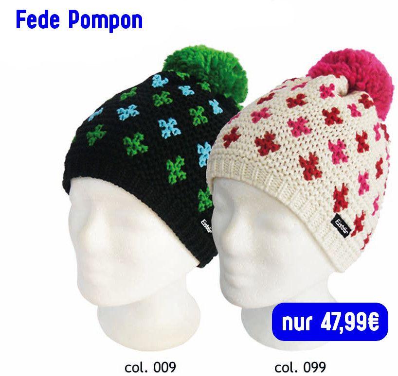 Fede Pompon Eisbär Mütze | Eisbär mützen und Mütze