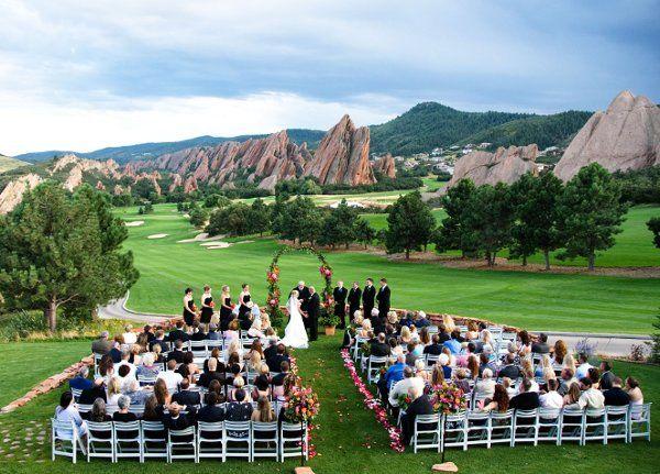 Arrowhead Golf Club Wedding Ceremony Reception Venue Colorado