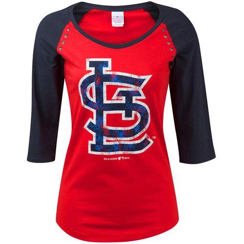 St. Louis Cardinals Women s 3 4 Sleeve Jersey Raglan by 5th   Ocean -  MLB.com Shop b0739108ad