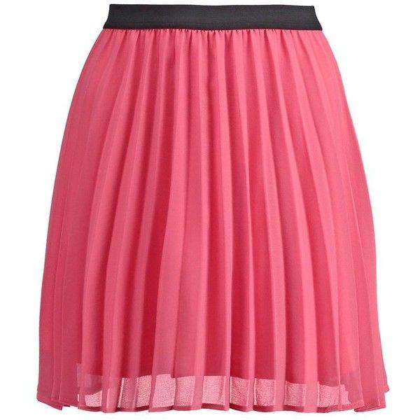 Even&Odd Mini skirt ($24) ❤ liked on Polyvore featuring skirts, mini skirts, coral, short mini skirts, red mini skirt, red skirt, print skirt and patterned mini skirt