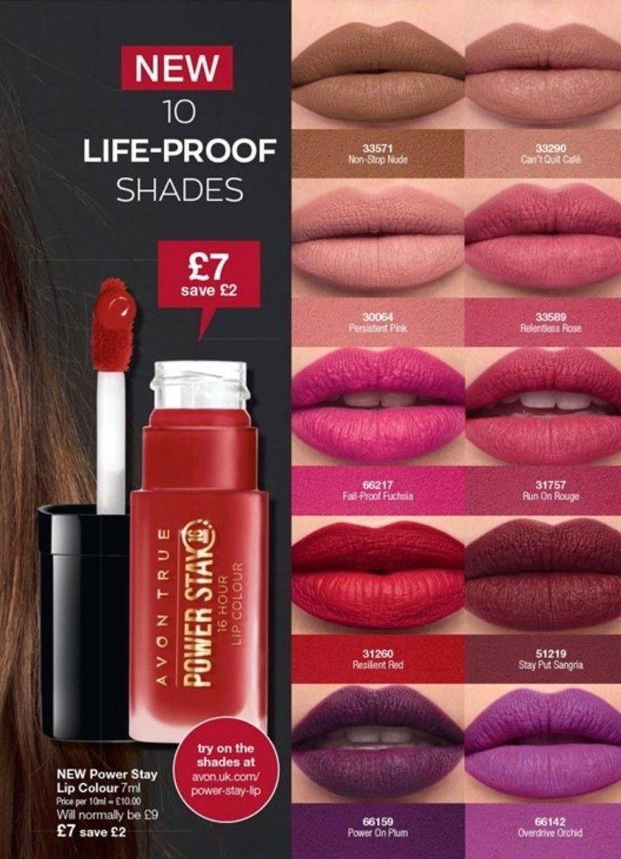 AVON TRUE COLOUR Power Stay Lip Colour - 16 hour - NEW