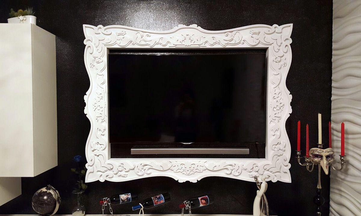 Cornice TV su misura per TV LED in vendita su www.materik.it ...