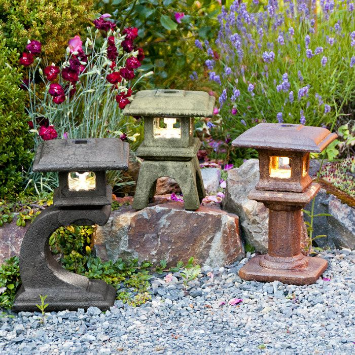 Charmant Solar Mini Japanese Lanterns