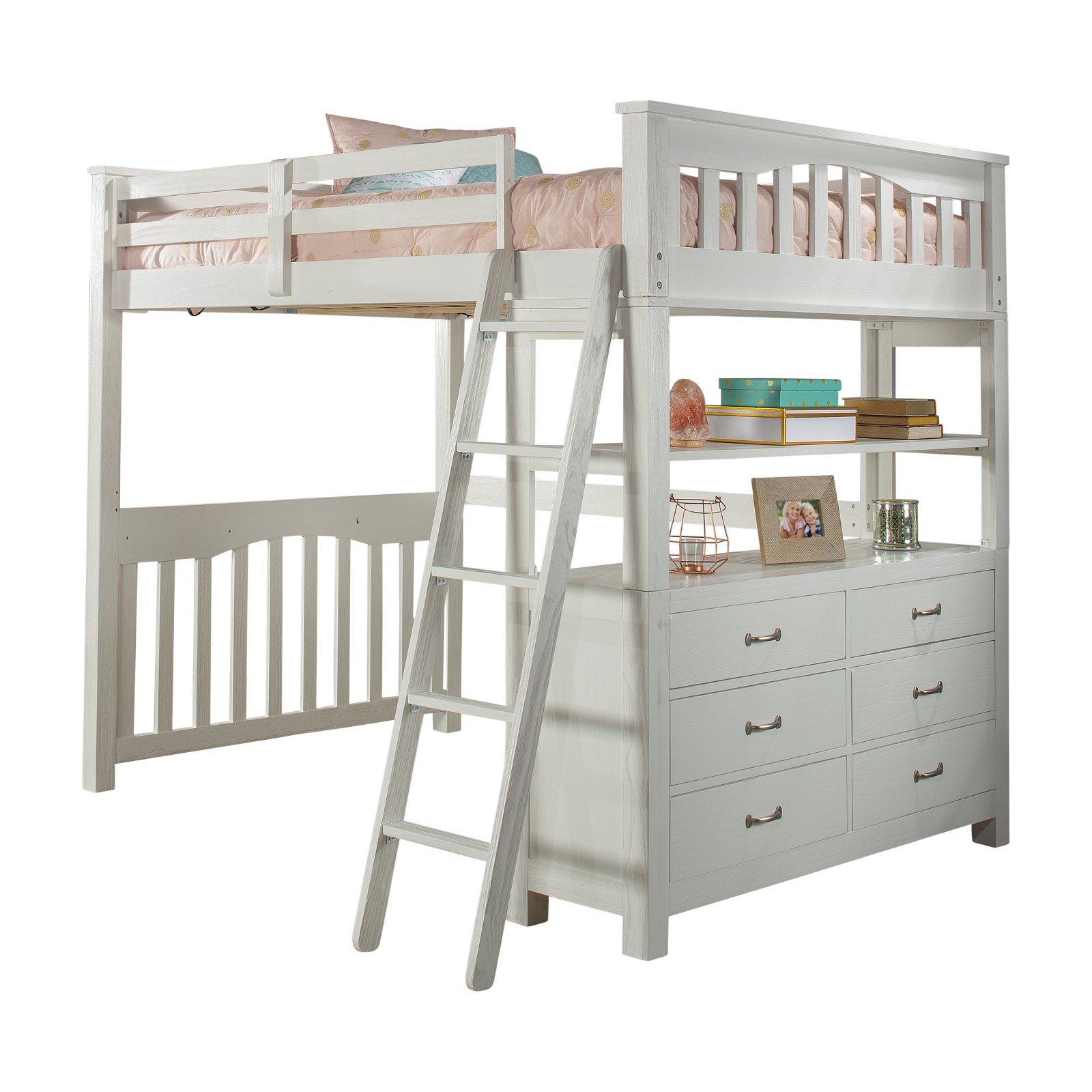Ne Kids Highlands Full Loft Bed Loft Bed Full Bed Loft Bunk Beds With Stairs