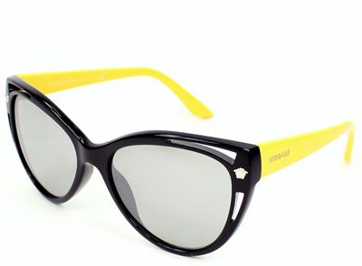 faa4888402f8 Sunglasses spring summer 2014 2015  Versace black yellow cat eye ...