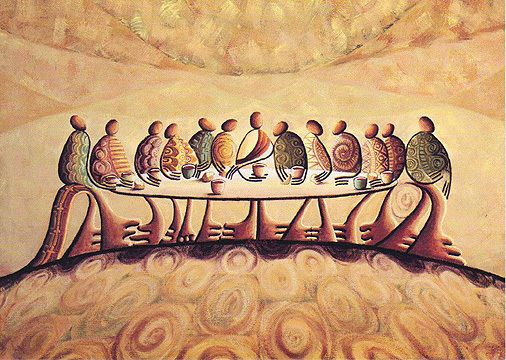 African American Art The Last Supper By Okaybabs Signed Ltd Edition 43 777 The Last Supper Painting Contemporary Christian Art Christian Art