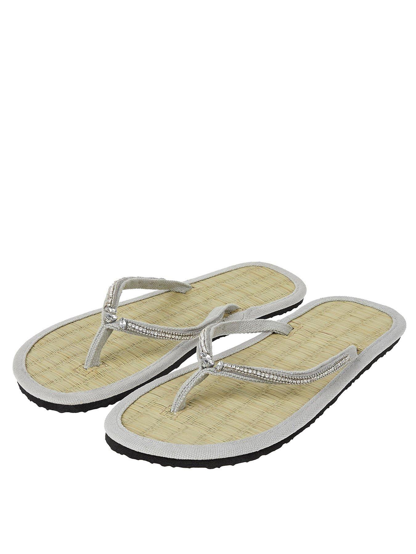 161340ad9de915 Accessorize Seychelles Sparkle Seagrass Flip Flop Sandal - Grey ...