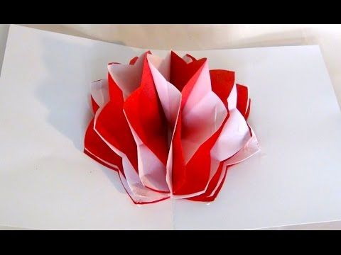 How to make a pop up paper flower youtube origami flowers how to make a pop up paper flower youtube origami mightylinksfo