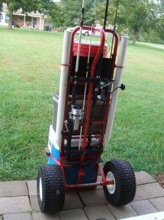 Pier Cart - Homemade pier cart constructed from an off-the