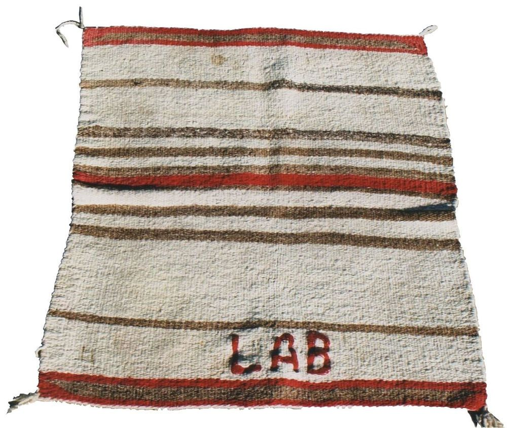 Navajo Saddle blanket Single banded with Hand embroidered  LAB