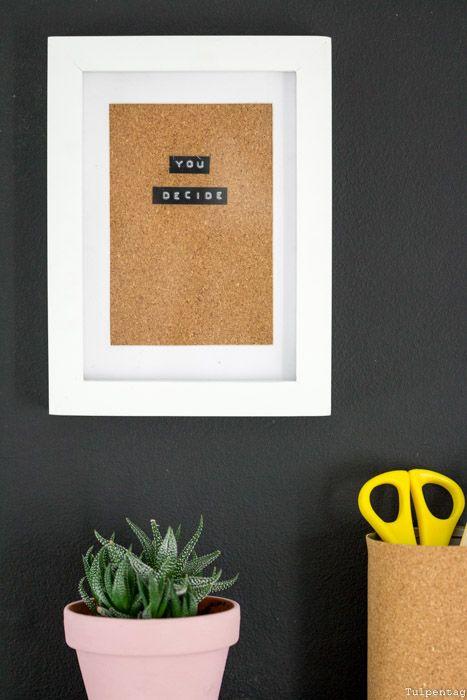 Diy bild mit kork diy deko pinterest geschenke bilderrahmen und basteln - Selbstgemachte bilderrahmen ...