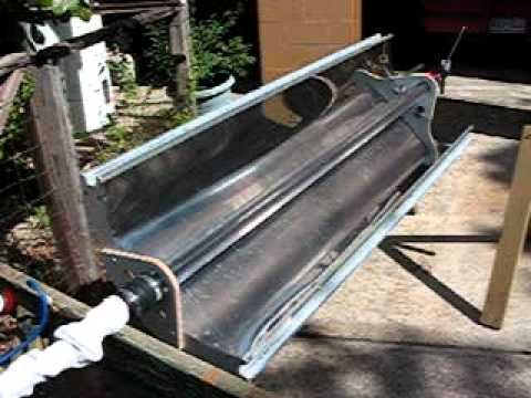 Parabolic Trough Solar Collector Water Heater 2 Home