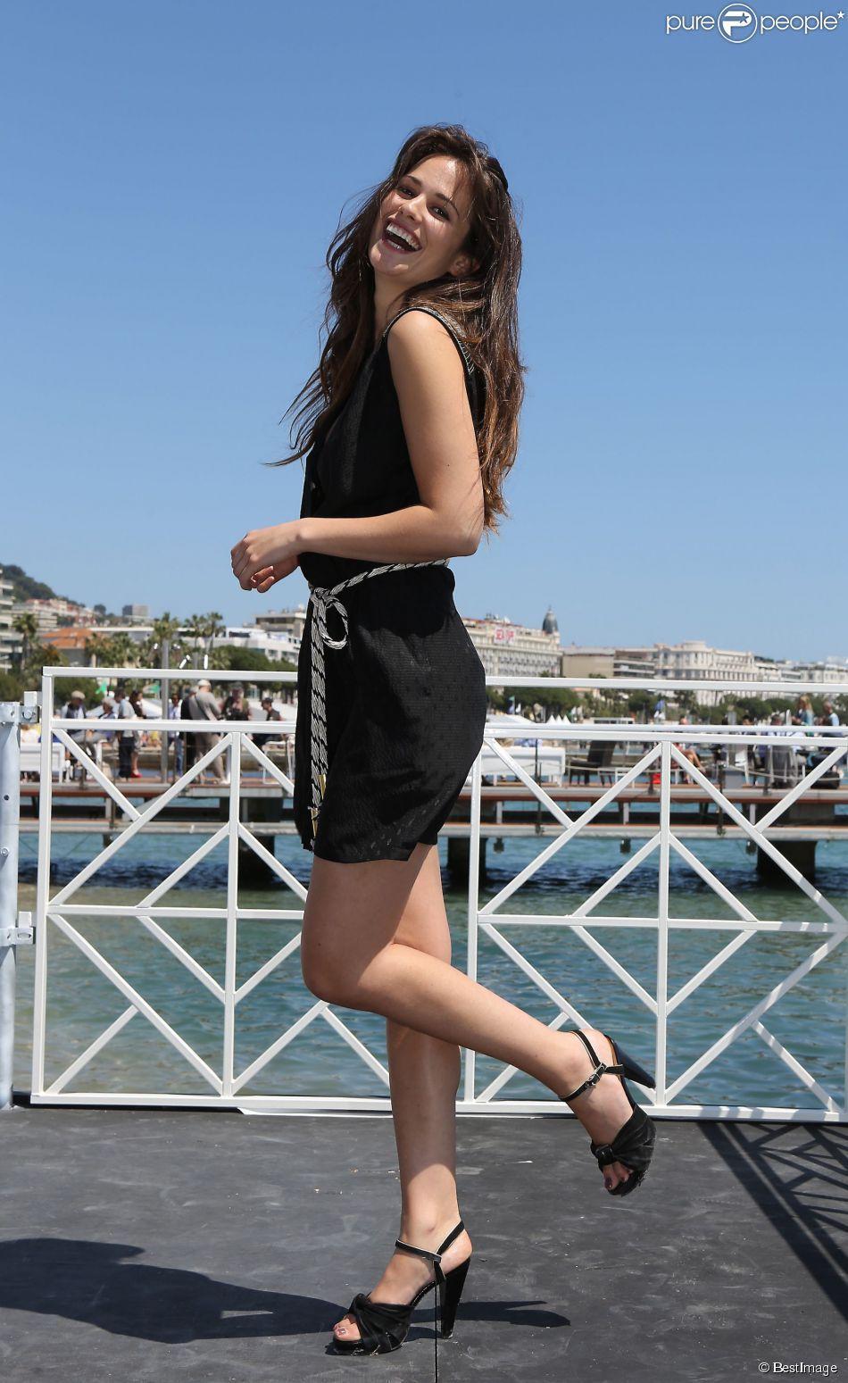 Lucie Lucas à Cannes. Le 17 mai 2014