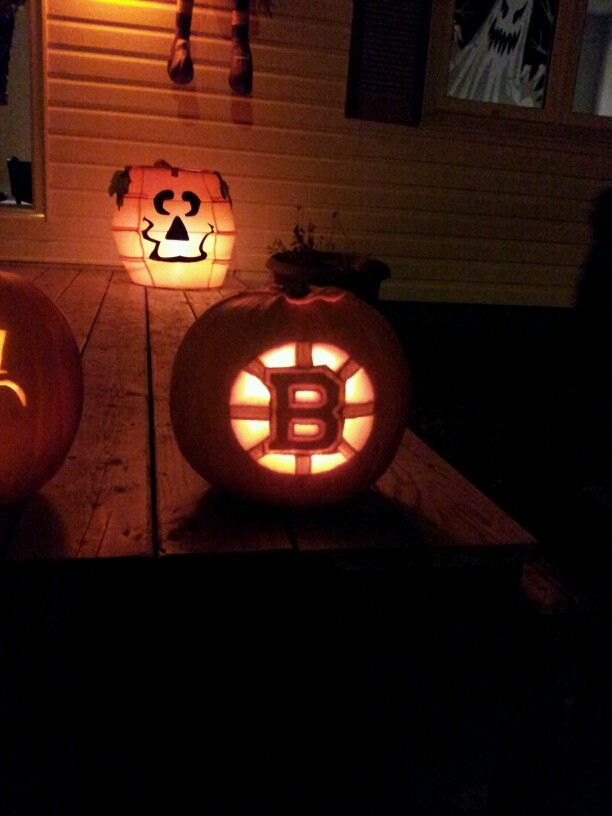 Boston Bruins Pumpkin Carve Out The White Shave Away Yellow And Leave Black Solid