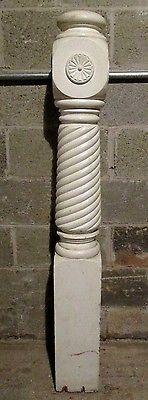 Best Unique Antique Carved Oak Newel Post Barley Twist 640 x 480