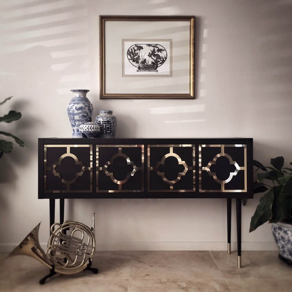Etagere Ikea Schwarz Kallax Grows Up To Be A Glamorous Credenza Ikea Hack Idea