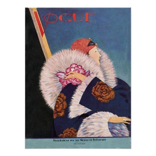 Cubierta de la moda de París de los años 20 del ar Póster