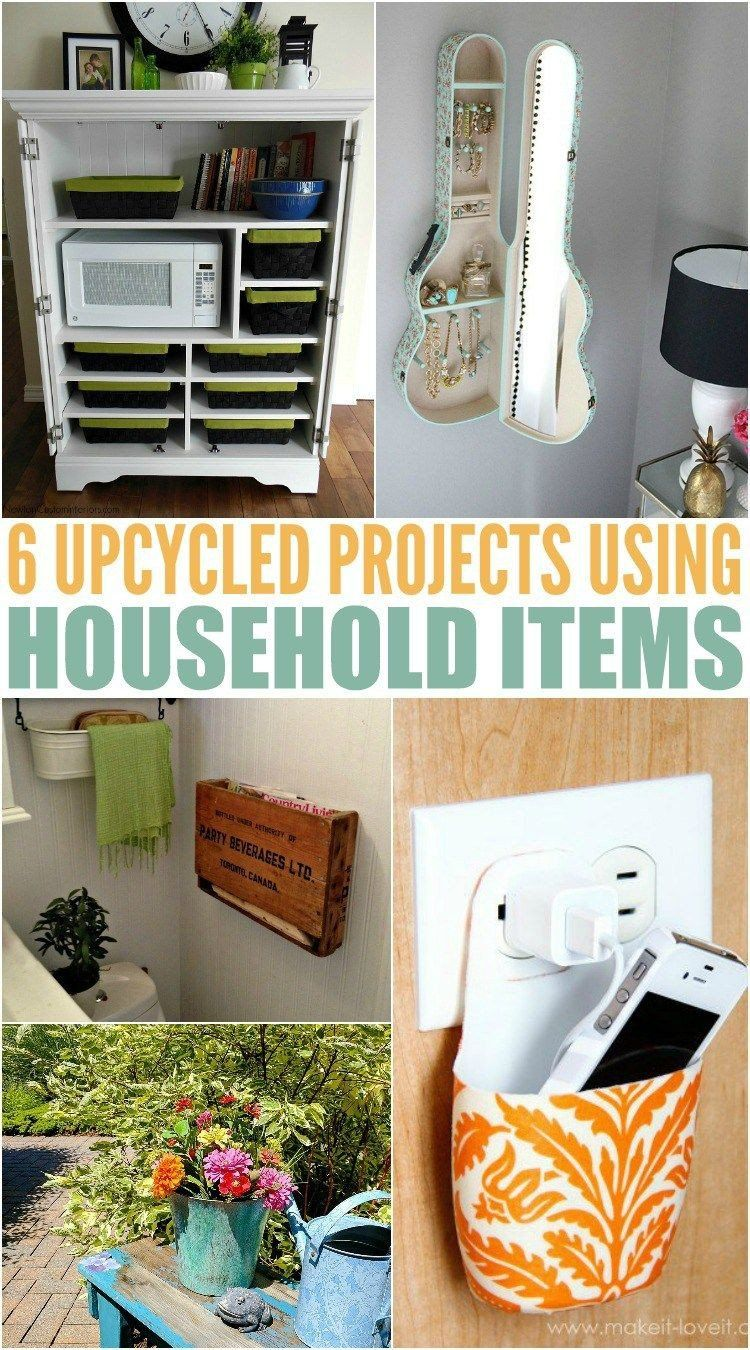 Diy Crafts With Household Items In 2020 Household Items Upcycle Decor Frugal Decor