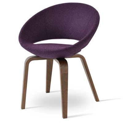 Sohoconcept Crescent Plywood Upholstered Dining Chair Frame Color American Walnut Upholstery Color Ca Dining Chair Upholstery Chair Solid Wood Dining Chairs