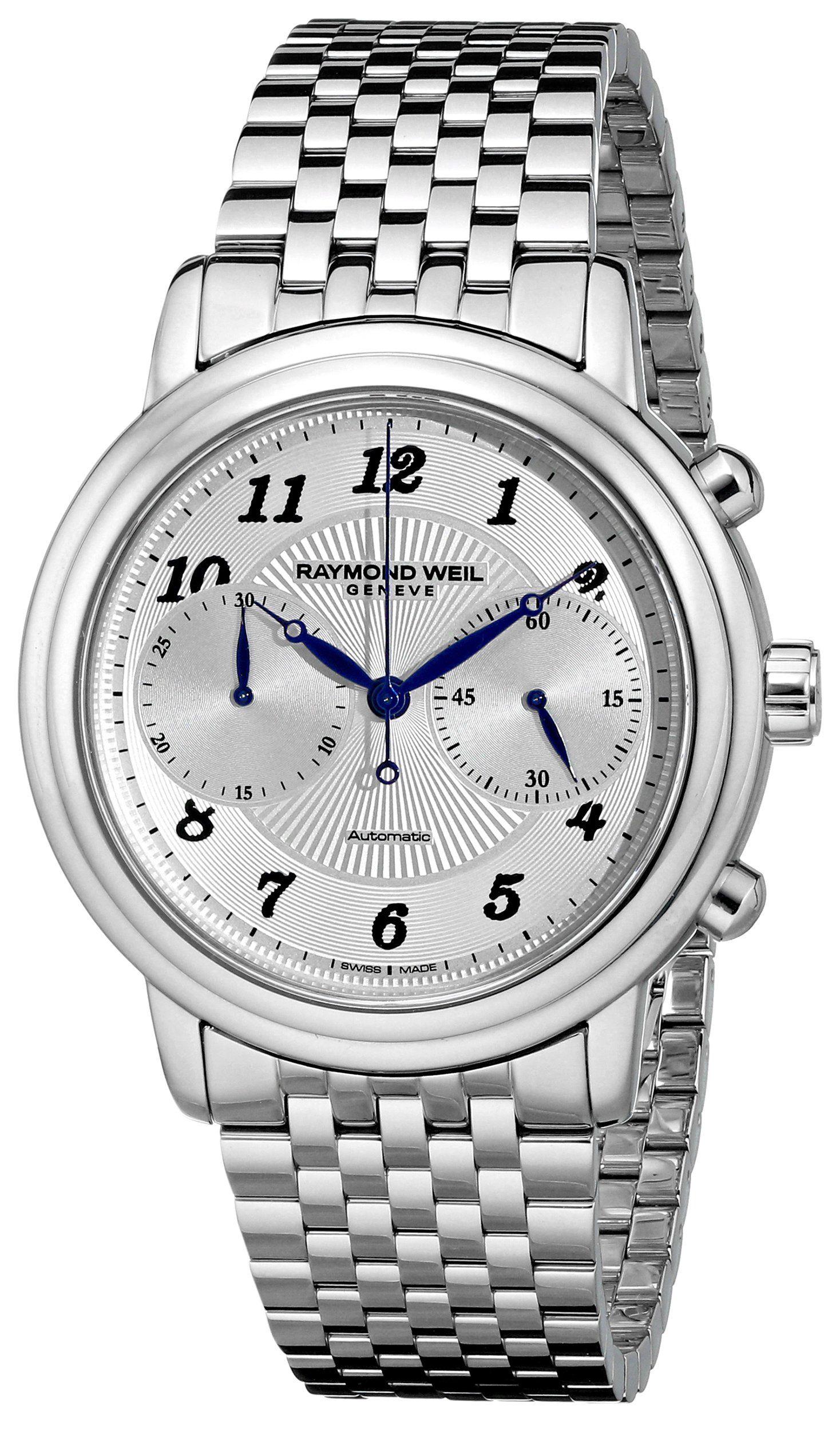 Raymond Weil Men's 4830-ST-05659 Maestro Analog Display Swiss Automatic Silver Watch