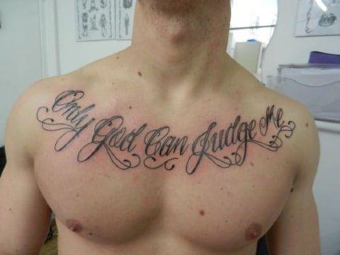 4 Caligrafias Diferentes En Tatuajes De Frases En El Pecho Tattoos