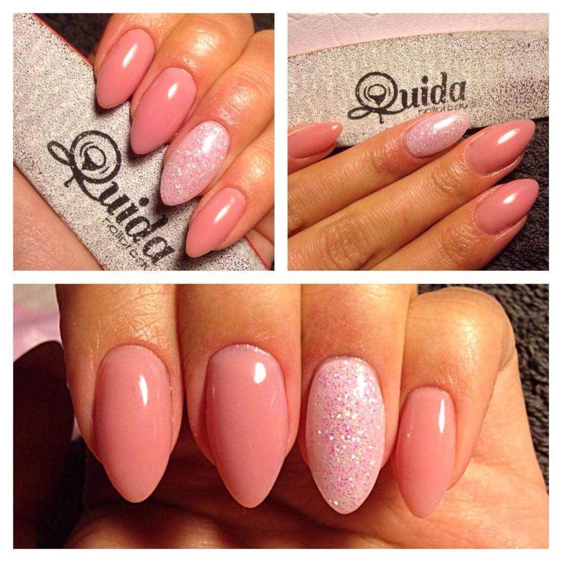 Natural almond shaped gelnails | Nails | Pinterest | Gelnägel ...