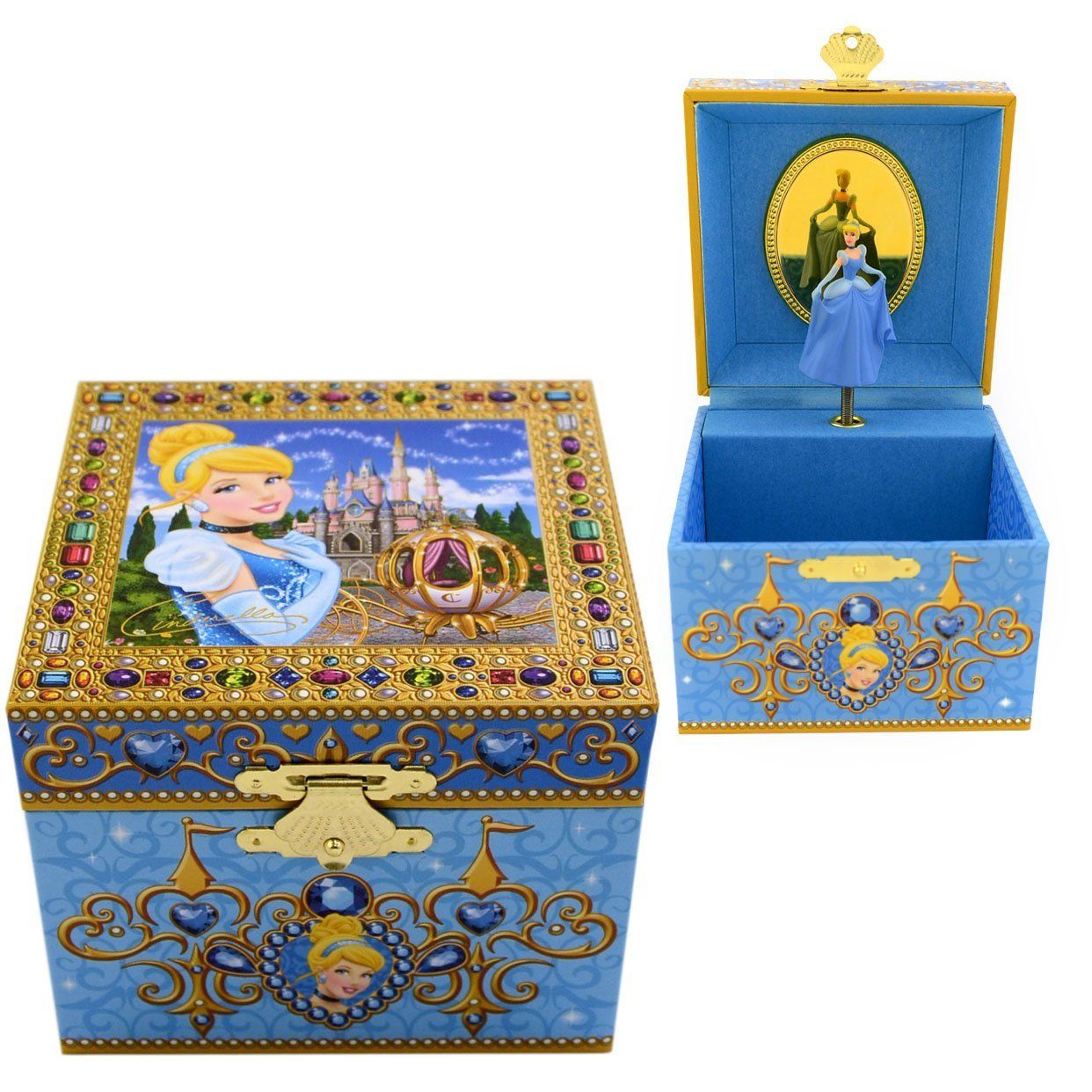 Amazoncom Disney Parks Exclusive Cinderella Musical Jewelry Box