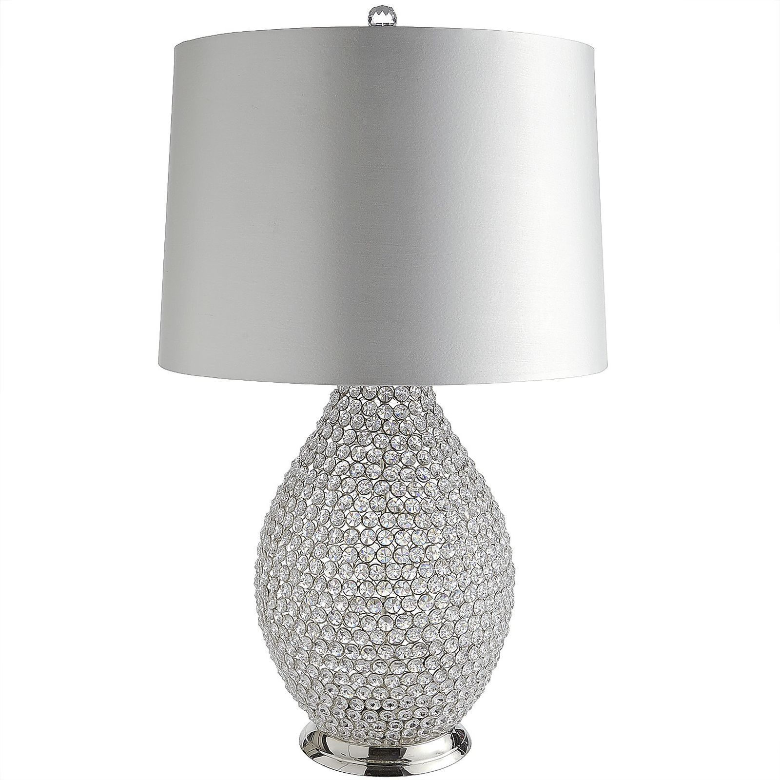 White Crystal Bead Table Lamp Beaded Lamps Crystal Beads