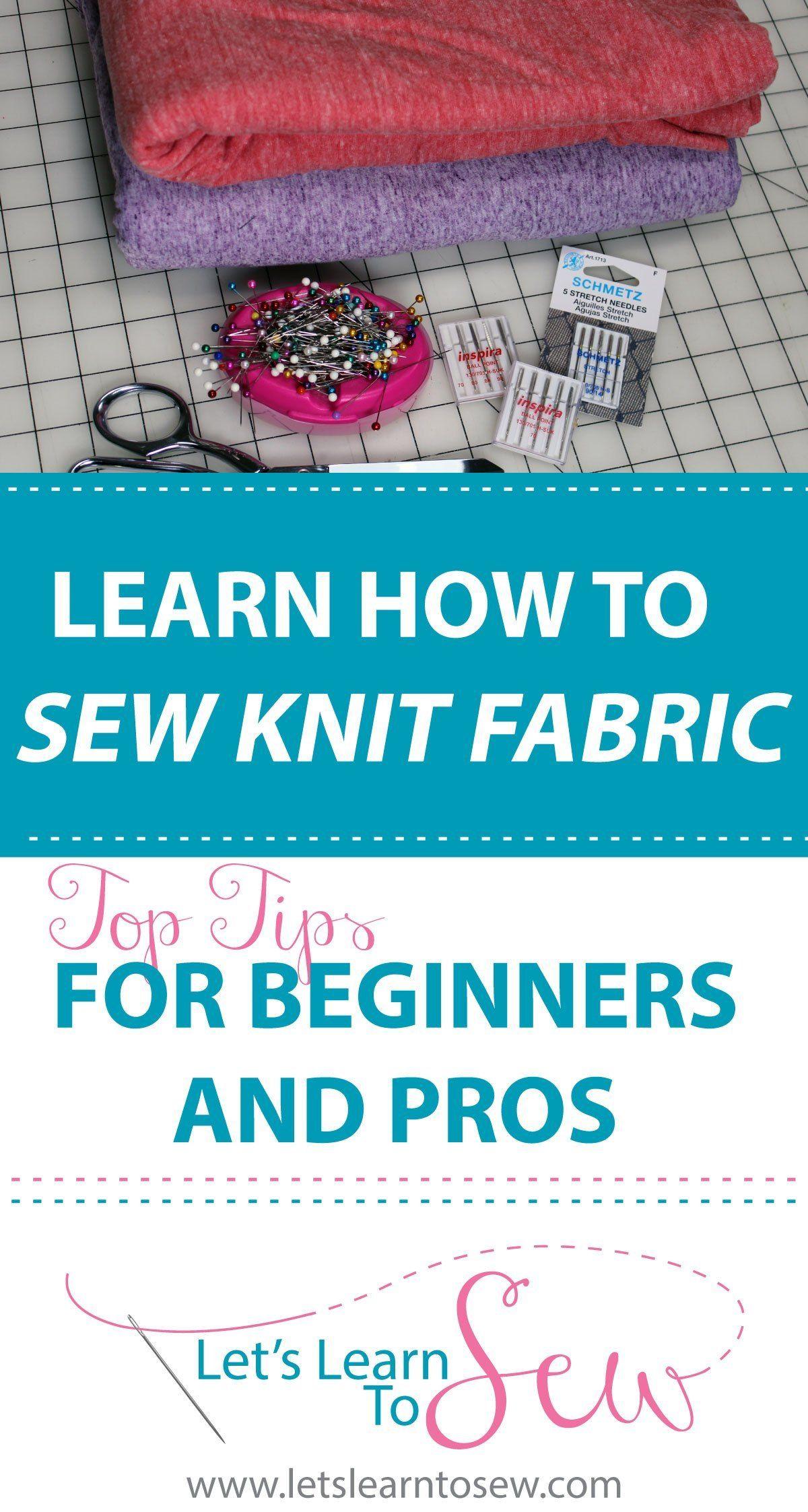 Comment coudre avec des tissus tricotés: meilleurs conseils pour les débutants   – Sewing Techniques