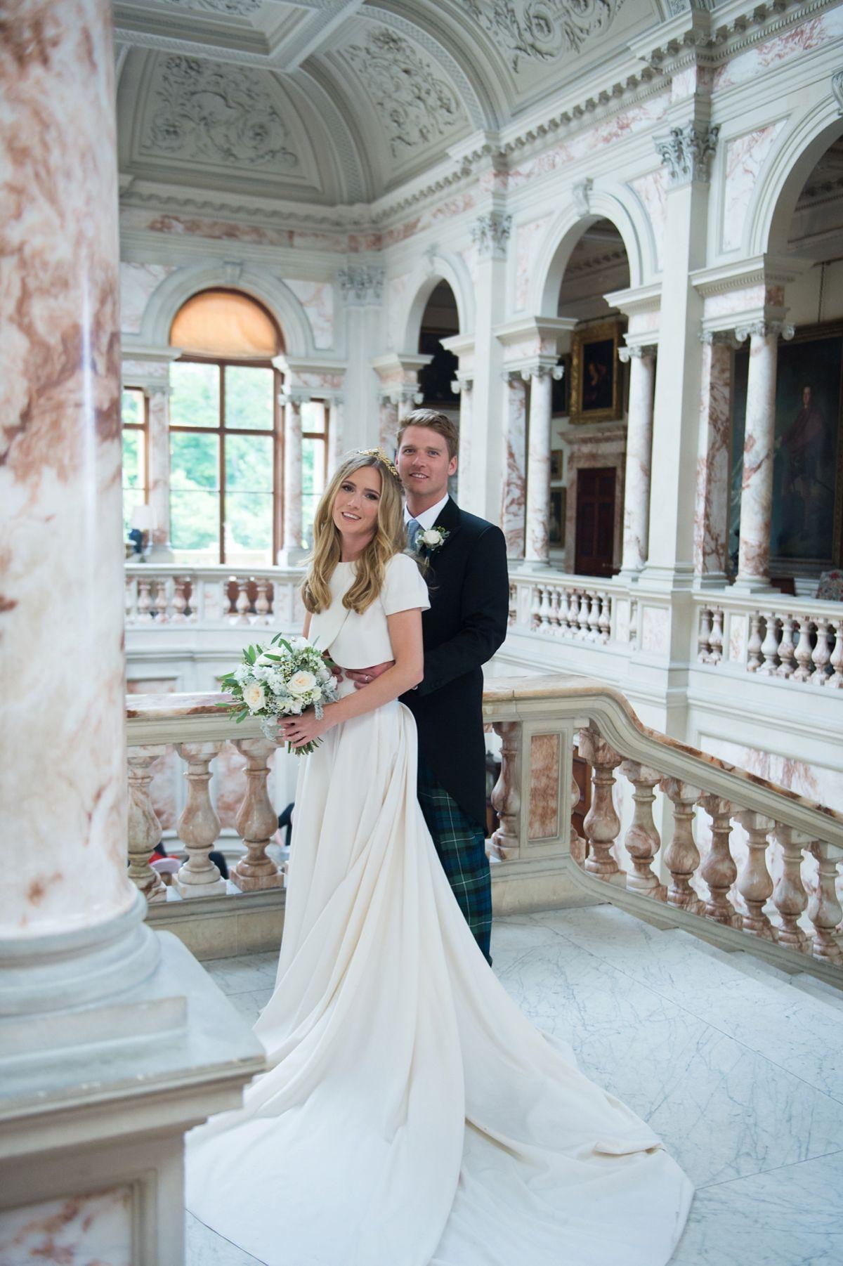 Scottish wedding dresses  An Elizabeth Stuart Gown For A Grand Scottish Wedding  marry