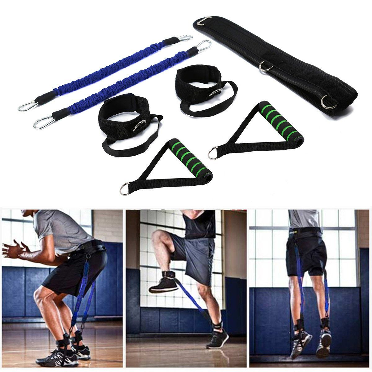 Wowelife Vertical Jump Trainer Equipment Bounce Trainer Device Leg Strength Training Bands For Agility Vertical Jump Training No Equipment Workout Jump Workout