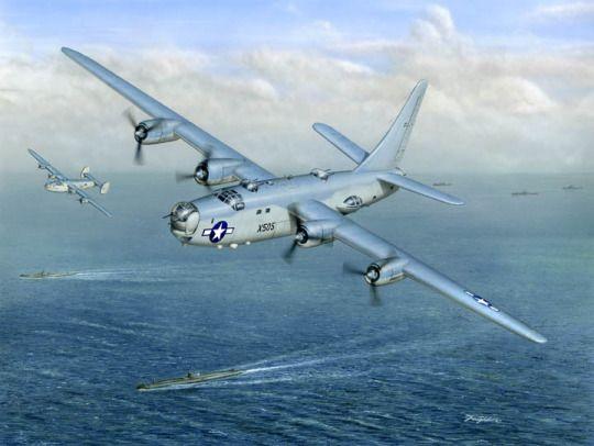 "P2V Neptune Tracking Submarines /""Loaded For Bear/"" Don Feight Print"