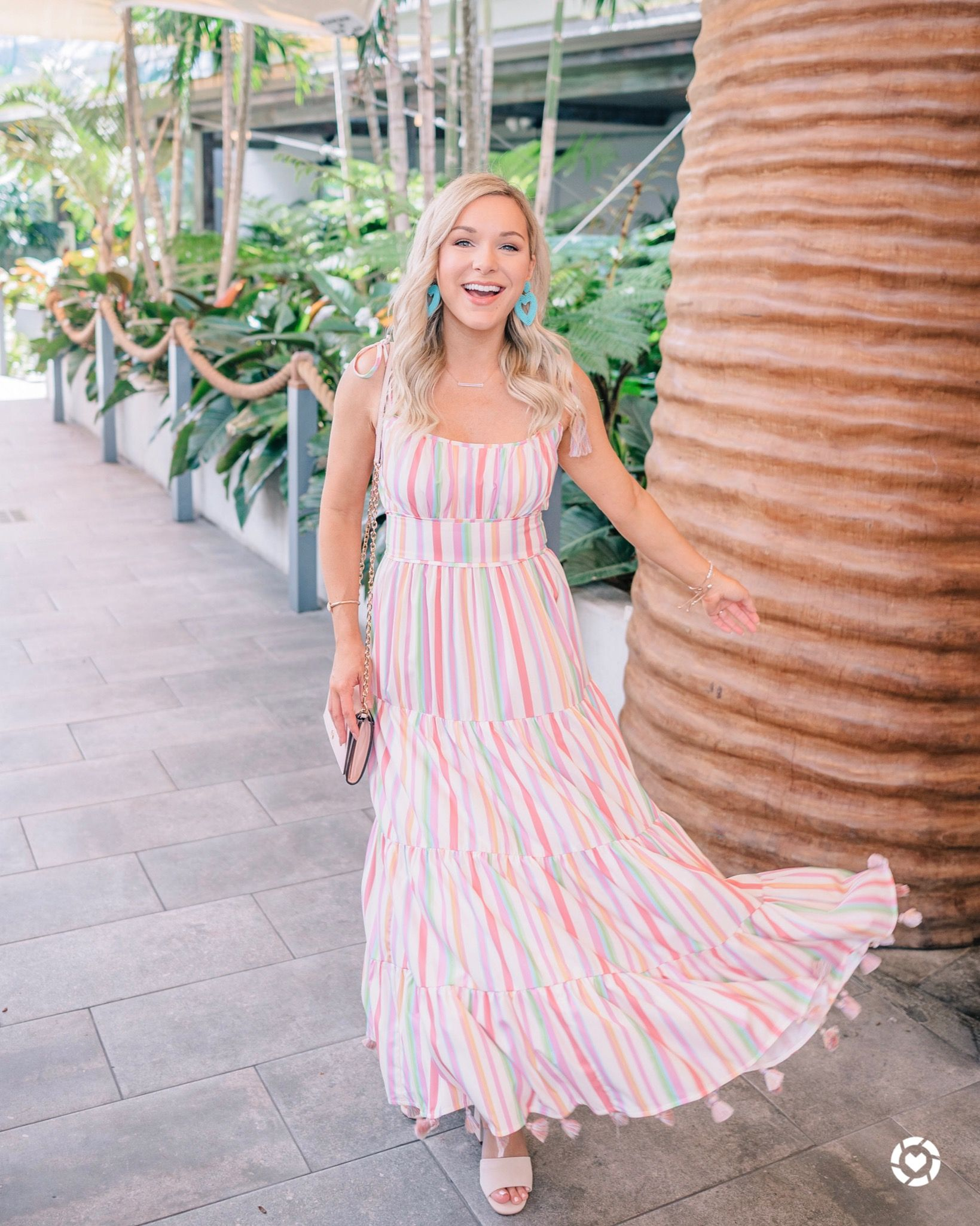 Pastel Striped Maxi Dress With Tassels Summer Style Striped Maxi Dresses Maxi Dress Dresses [ 2049 x 1639 Pixel ]