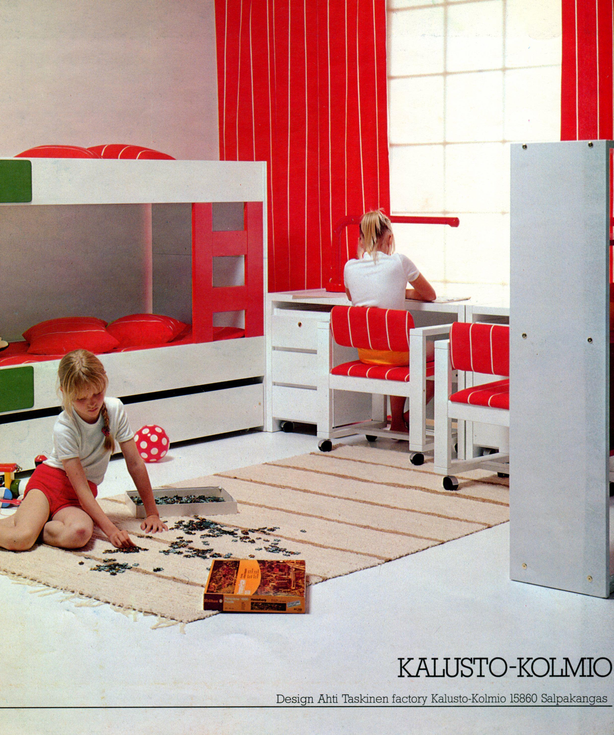 70S Furniture For The Kids Room, Design Ahti Taskinen
