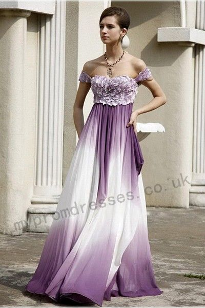 Purple And White Excellent Gown With Images Purple Wedding