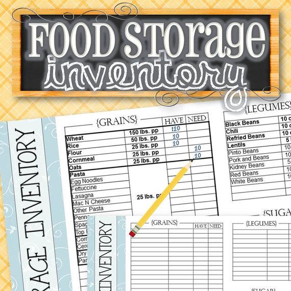 Food Storage/Pantry/Freezer Inventory Bonus 200 Barcodes DIY - food inventory template