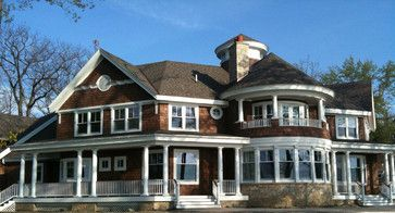 Shingle Style Summer Home on Lake Michigan traditional exterior