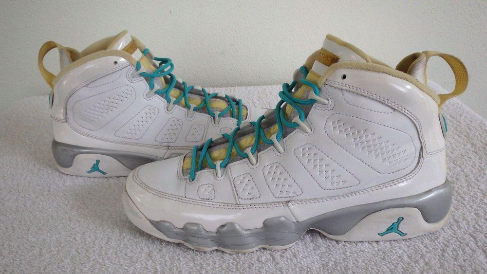 reputable site 5eb75 d8ee7 Nike Air Jordan IX Retro 9 GS White Yellow Shoes Kids Size ...