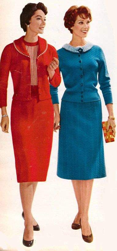 aff6e01c3 Women s Fashion from a 1959 catalog. I can t help but love coordinated sets  like this.