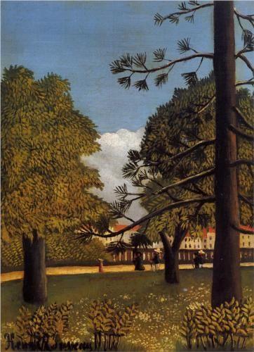 View of Parc de Montsouris - Henri Rousseau, 1894-5.  Art Experience NYC  www.artexperiencenyc.com/social_login/?utm_source=pinterest_medium=pins_content=pinterest_pins_campaign=pinterest_initial