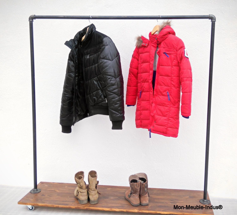 Portant Vetement Industriel Rangement Chaussure Clothing Rack