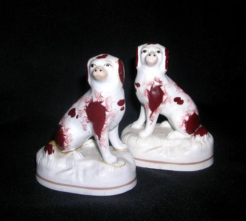 Small Pair of Early Staffordshire Dogs