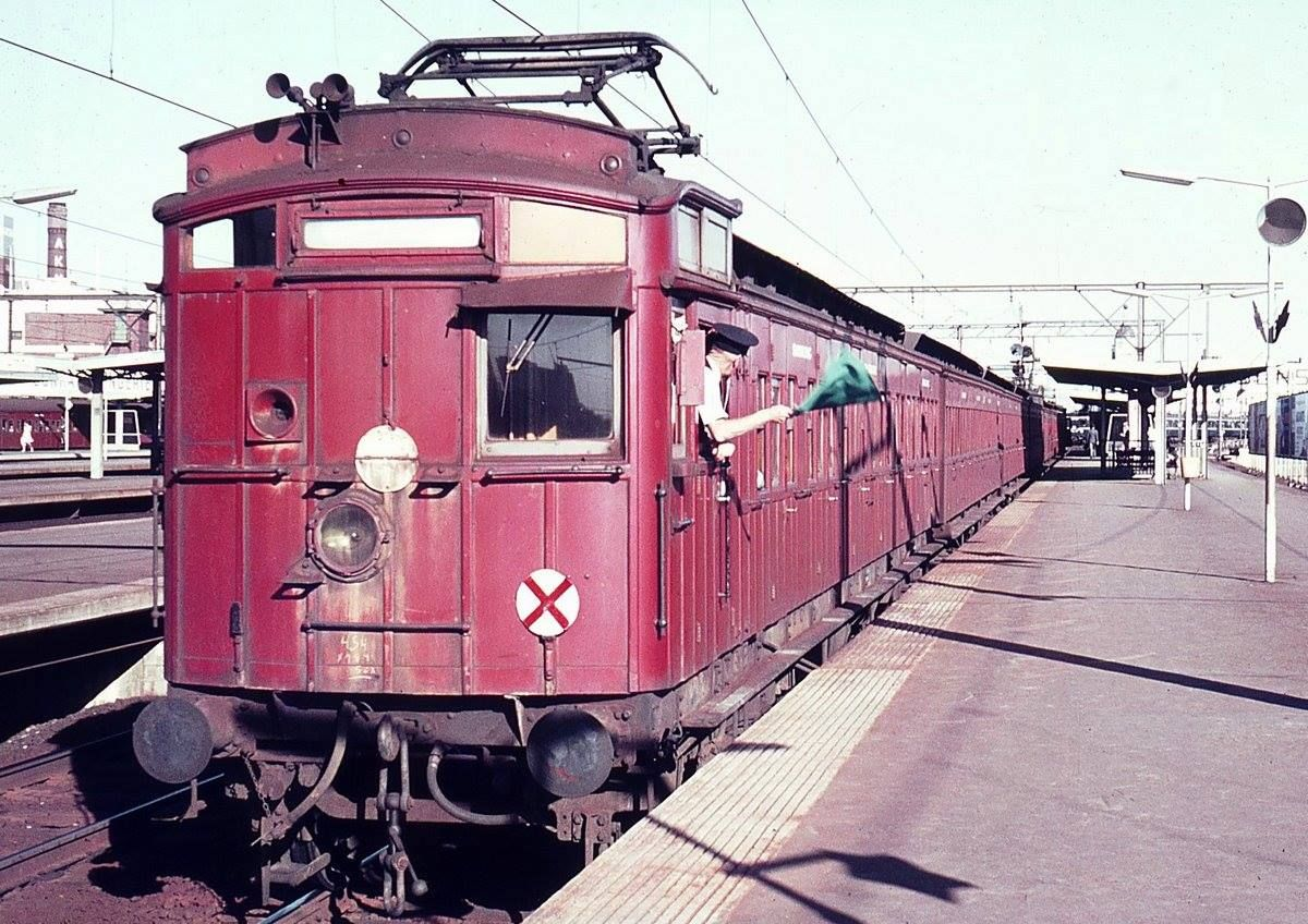 Tait Swing Door Dog Box Red Rattler At Richmond Station Train Melbourne New South Wales