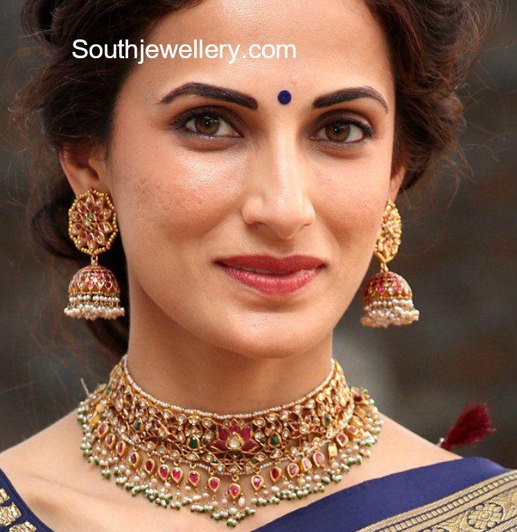 Shilpa Reddy Kundan Choker Jhumkas Jewelry Jewelry