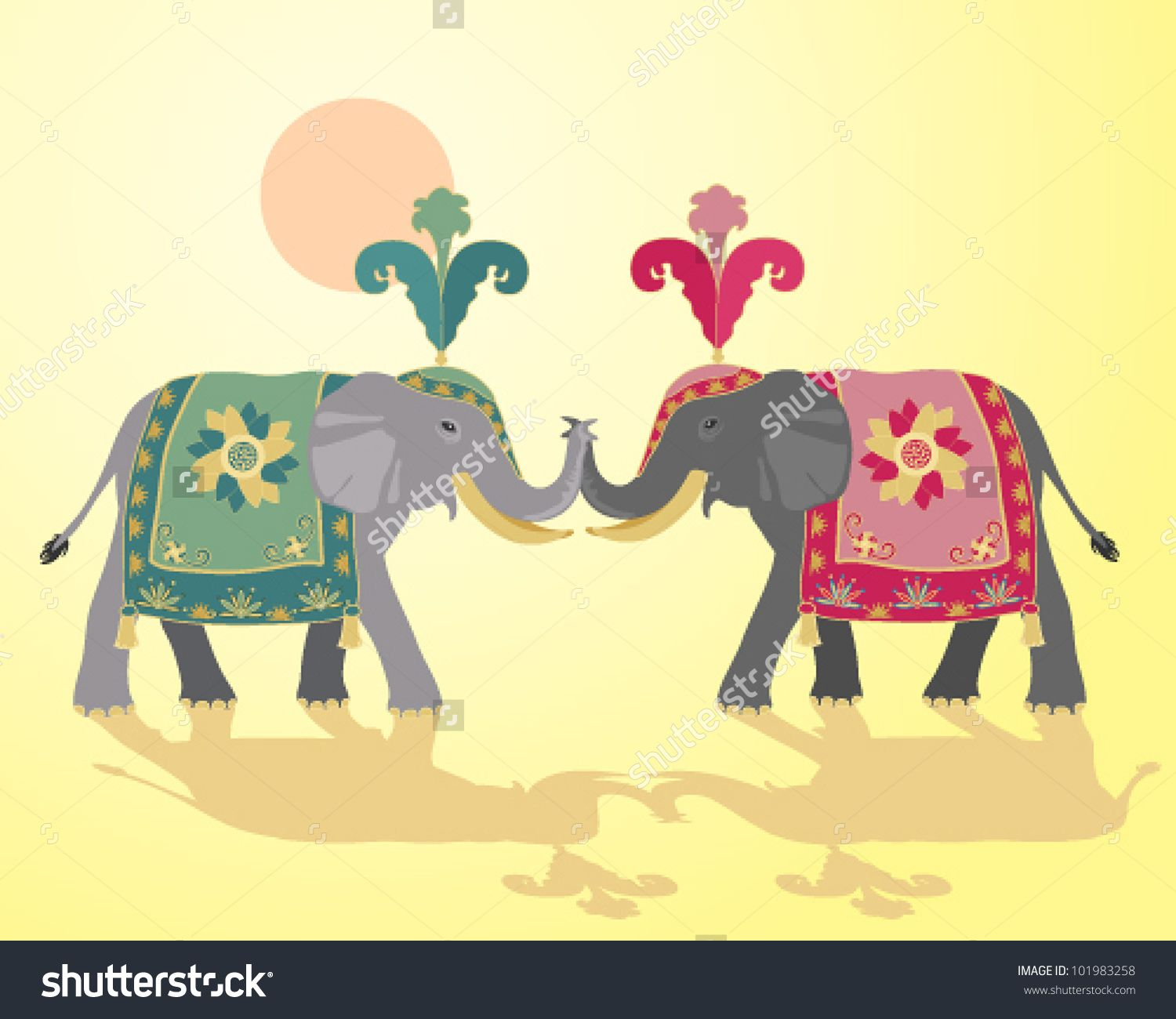 ceremonial decorated african elephants - Google Search ...