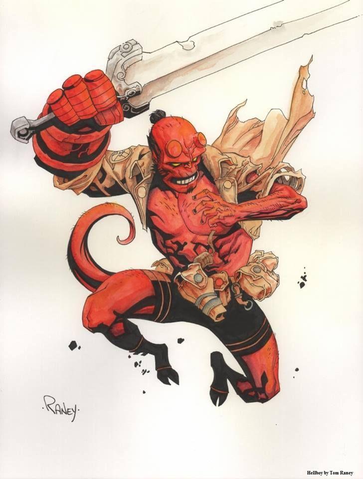 Hellboy by Tom Raney *