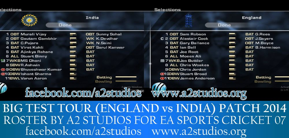 Pin On Ea Sports Cricket 07 Rosters 2014