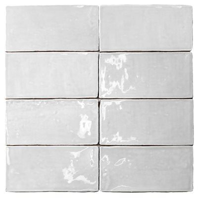 Soho Masia 3x6 Blanco Patty Beck Kitchen Tile Hers Is Gray With Silverado Grout